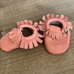 Other - Pink baby leather moccasins